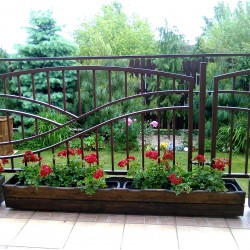 Donica balkonowa drewniana II