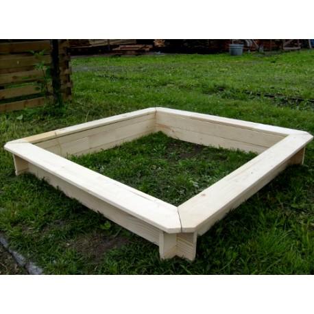 Piaskownica drewniana bez przykrycia