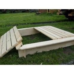 Piaskownica drewniana z przykryciem