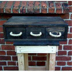 Drewniana półka w stylu vintage mała