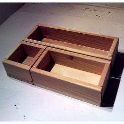 Drewniane skrzynki zestaw