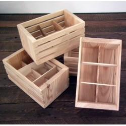 Drewniana skrzynka koszyk