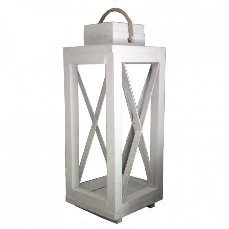 Lampion świecznik ogrodowy drewniany