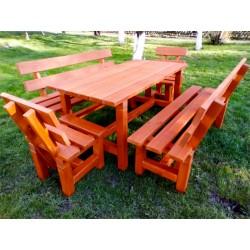 Meble ogrodowe drewniane zestaw
