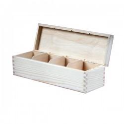 Pudełko na herbatę drewniane podłużne