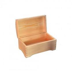 Szkatułka kuferek z drewna