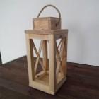 Lampion ogrodowy drewniany