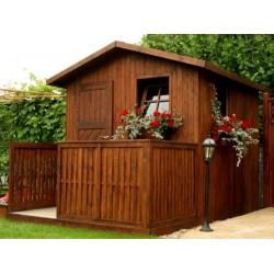 Domek ogrodowy z tarasem