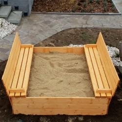 Piaskownica drewniana z pokrywą