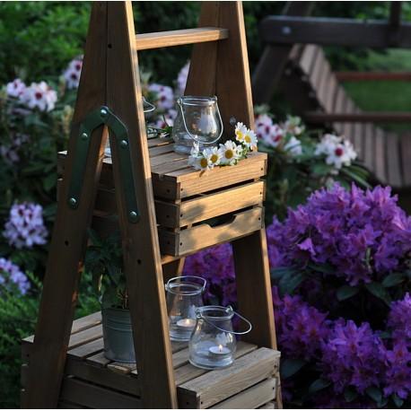 Drabinka dekoracyjna ogrodowa