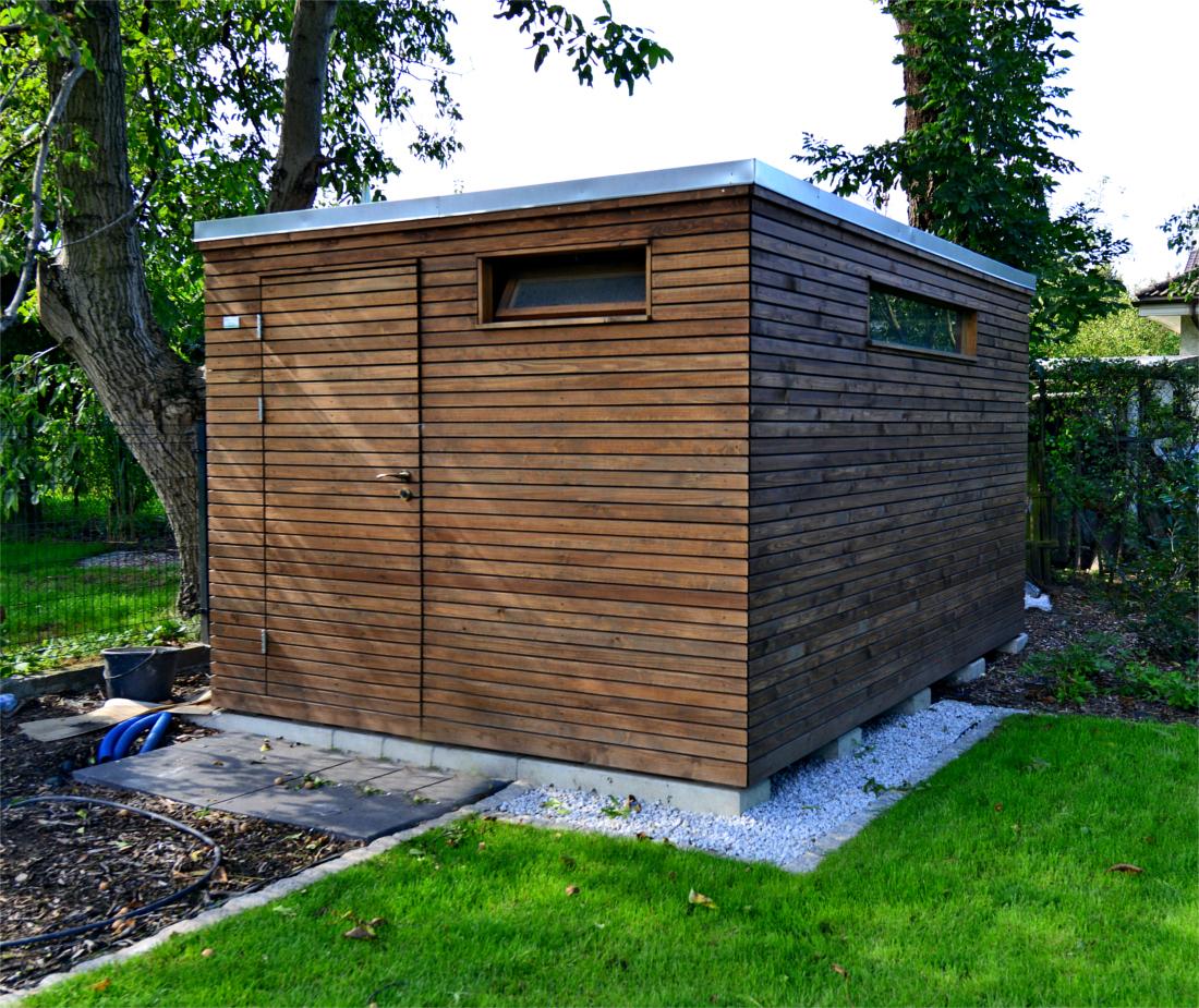 nowoczesny domek ogrodowy